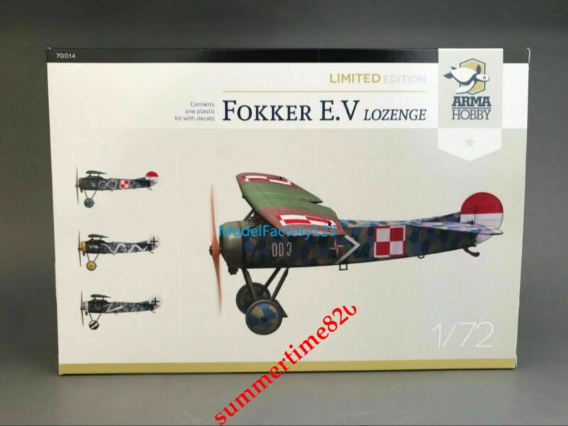 Arma Hobby 70014 1/72 Fokker E.V Lozenge Limited Edition set Model Kit 20220