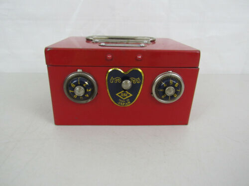 Vintage ASC Combination Pressed Steel Coin Bank-Made In Japan