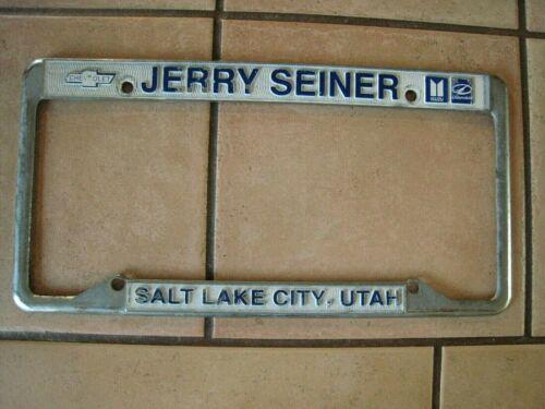 Vintage SALT LAKE CITY Car Dealer CHEVROLET Oldsmobile  LICENSE PLATE FRAME Utah