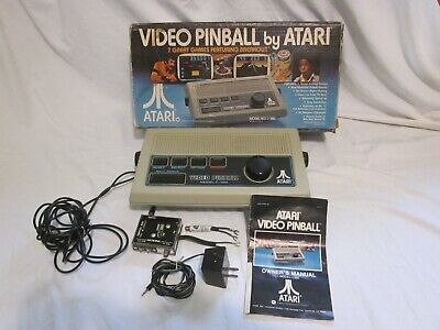 VINTAGE 1977 VIDEO PINBALL BY ATARI CONSOLE GAME