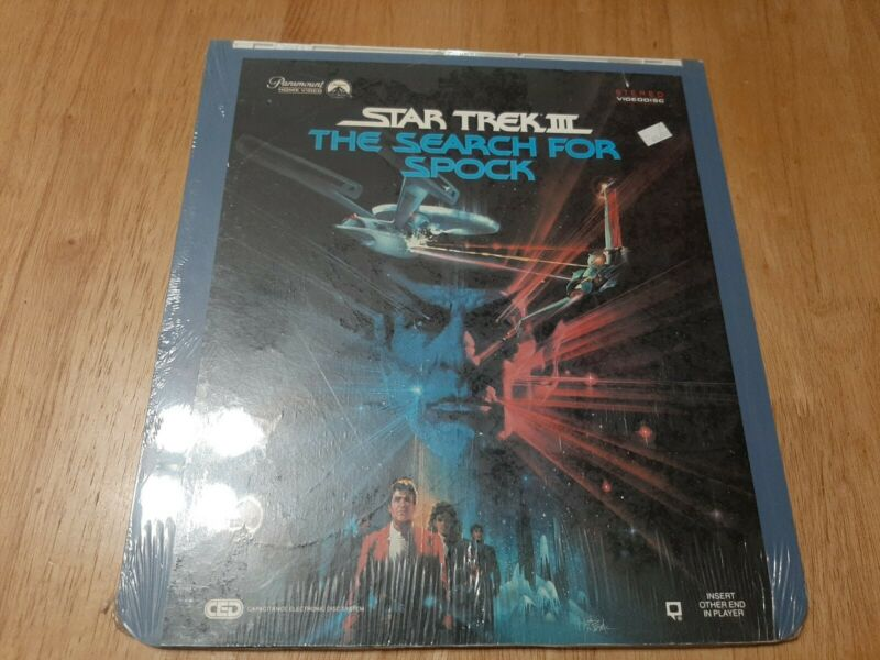 Star Trek 3 The Search For Spok 1985 Capacitance Electronic Disc Laserdisc New