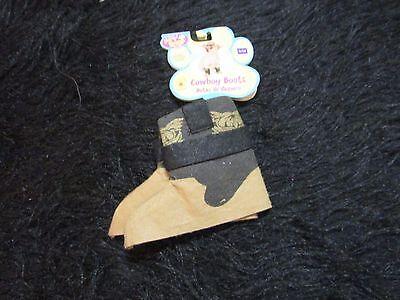 Rubies Pet Shop Boutique brown felt cowboy boots s/m pet dress up costume