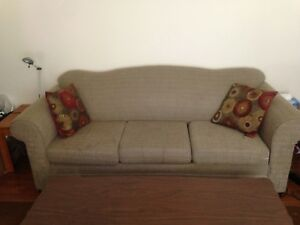 Couch, light beige color, good condition
