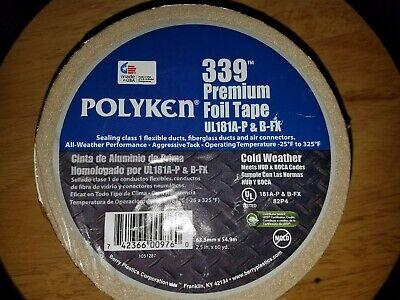Polyken 339 Aluminum Hvac Foil Tape 2.5 X 60 Yd Flex Air Duct Ductboard
