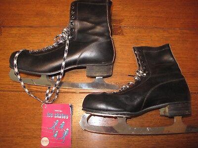 Sears Roebuck Vintage Mens Figure Ice Skates with Original Box Size 9