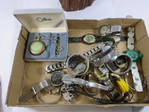Large Lot of Mens and Ladies Watches Colibri Pocket Watch TMNT Acqua  WB22
