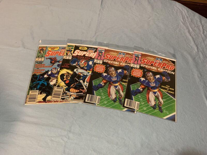 Marvel Comics NFL Superpro Lot Of 4 #1