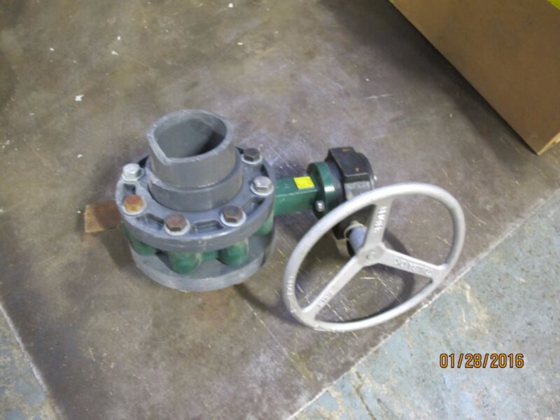 "CRANE SERIES 200 4"" Center Line Resilient Seated Butterfly Valve 316 SST"