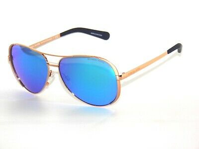 Michael Kors Chelsea 5004 100325 Rose Gold  Blue Mirror Sunglasses D1