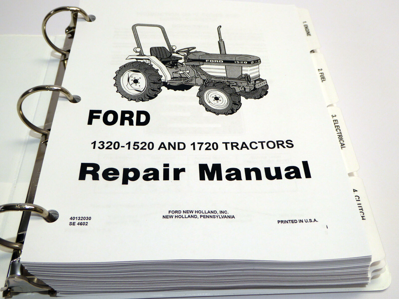 Ford 1320, 1520, 1620, 1715, 1720 Tractor Service Manual Repair Shop 5000