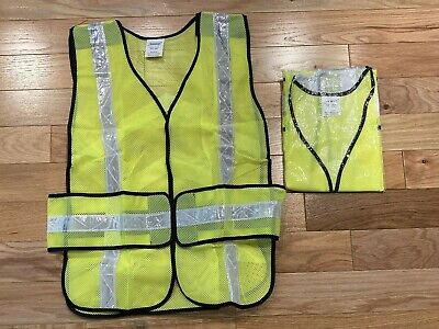 Safety Vest Reflective Mesh Hi-visability 7015-l Construction Running Osfa New