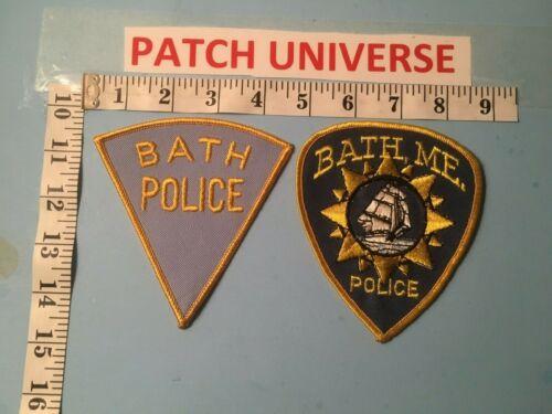 LOT OF 2 DIFFERENT BATH MAINE  SHOULDER  PATCHES  M024