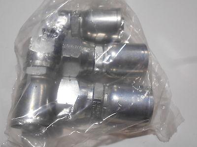 4x Eaton Weatherhead Coll-o-crimp Female Swivel 06912e-412 58 Hose 34 Tube
