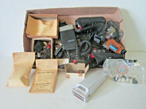 Lot of Vintage Electric Razor Repair Parts & Accessories