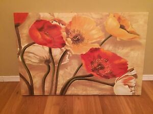 Large Canvas Print of Poppies
