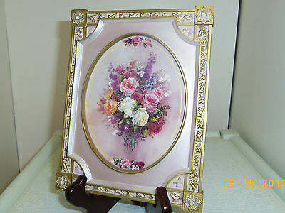 CAMEO OF ROSES, Bradford Exchange Lena Liu collector collectible plate