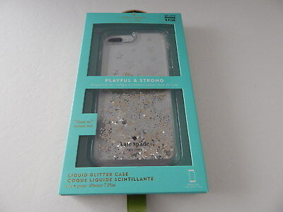 Kate Spade Perspicuous Liquid Glitter Case for iPhone 8 Plus iPhone 7 Plus Str/Glitter