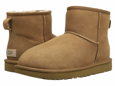 Ugg Mini Chestnut (Women UGG Classic Mini II Boot 1016222 Chestnut Suede 100% Authentic Brand New)