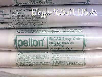 Pellon EK130 Easy Knit Fusible Tricot Interfacing & underlining (Sale by yard)
