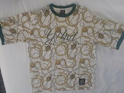 Vintage G Unit Green Gold Versace Style T Shirt Tee men's Sz XXL