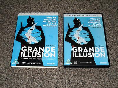 LA GRANDE ILLUSION : 75th ANNIVERSARY EDITION JEAN RENOIR DVD - VGC (FREE UK P&P