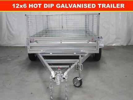12X6 TANDEM HOT DIP GALVANISED TRAILER, GREAT QUALITY 2000kg