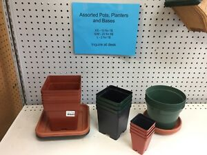 Assorted pots and planters