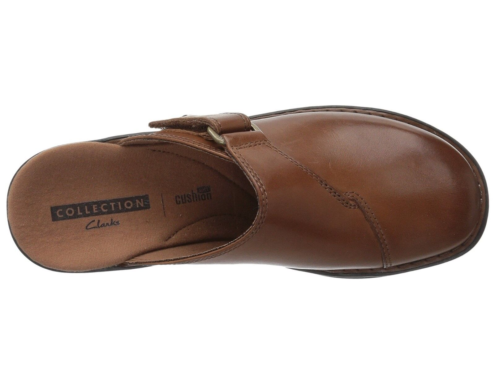 Clarks Shoes Women's Patty Nell Mule Clog Slip On Backout Dk Tan 5 or 5.5 1