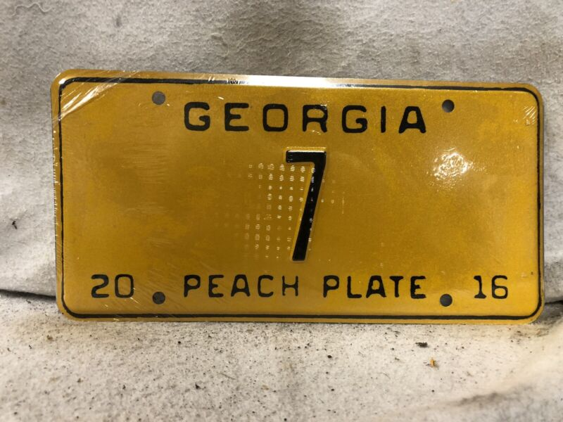 ALPCA Georgia Souvenir License Plate #7