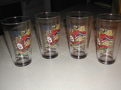 MILLER LITE COWBOY BOOT & RATTLESNAKE PINT BEER GLASSES SET - NEW - SET OF 2