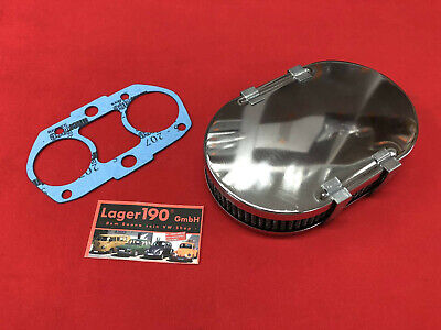 """14/"""" Chrom Luftfilter Chevelle Mustang Charger Challenger GTO Riviera C10 R8048"""