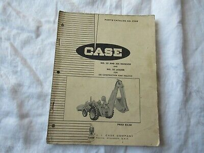 Case 32 32s Backhoe Loader Parts Book Manual Catalog Used On 530 Tractor