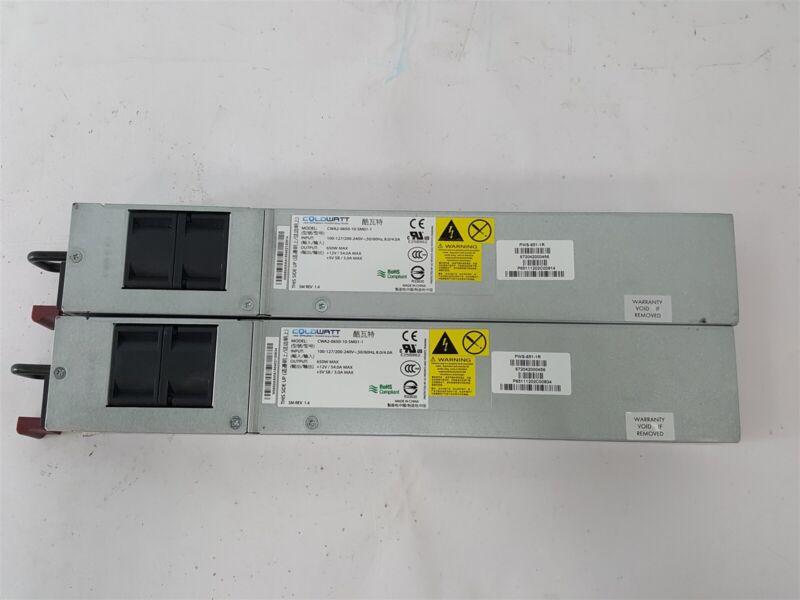 Lot of 2 Coldwatt CWA2-0650-10-SM01-1 650W Power Supplies