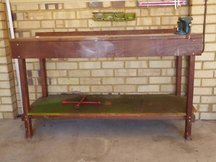 Work bench jarrah