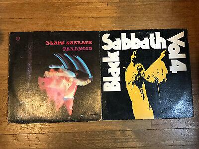 Black Sabbath 2 LP Lot - Paranoid & Vol 4 - Warner Brothers Green Label