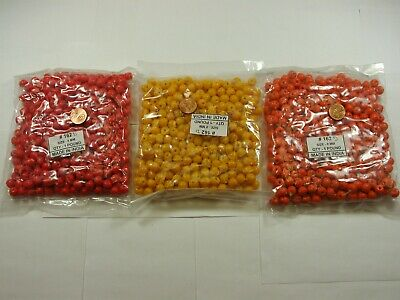3 Pounds 3 Colors 8x10mm India Handmade Glass Beads Wholesale Bulk Lot (162I)