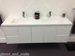Bathroom Vanity Unit 1800mm Polyurethane Wall Hung With