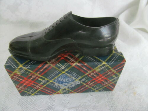 Vintage Advertising Miniature Shoe HANOVER Brand w/Tartan Plaid Box 1930-40