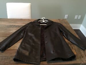 Roots ladies' 3/4 length leather  jacket
