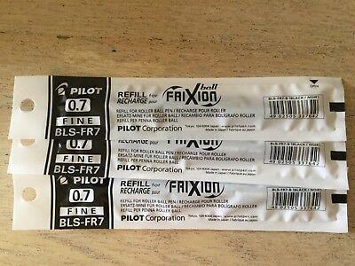 Pilot Frixion Erasable Pen 0.7mm Refill 3 Black