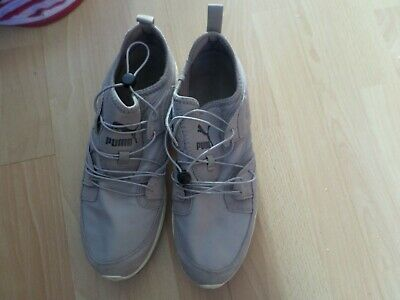 Grey Puma Trainers evertrack ignite size10 mens eur44.5 elastic fastener