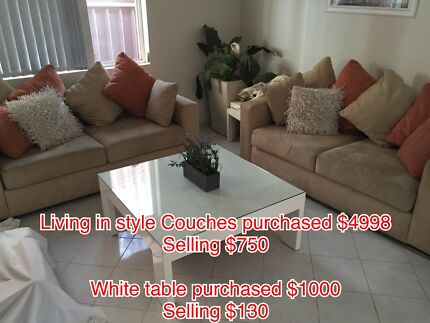 2 different sets of sofas with accessories Greenacre Bankstown Area Preview