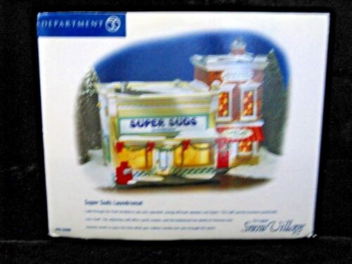 DEPARTMENT 56 SUPER SUDS LAUNDROMAT - SNOW VILLAGE #56 5506 - NEW/MIB