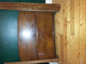 two solid wood double bed frame Kawartha Lakes Peterborough Area image 1