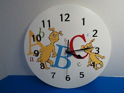ABC Wall Clock 30066 Tested Working (Dr. Suess Abc)