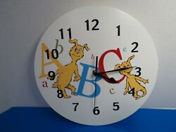 Trend Lab Dr. Suess ABC Wall Clock 30066 Tested Working