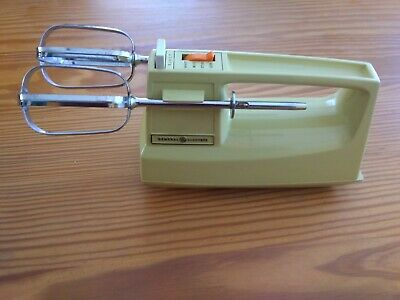 GE Custom Portable Mixer - M24HR - yellow 70's vintage hand mixer kitchen   Kitchen Portable Hand Mixers