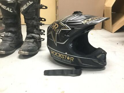 Motorbike helmet and boots both for $150