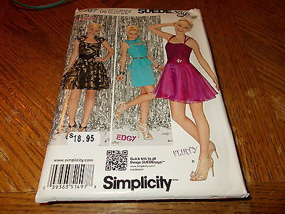 Prom Sayings (Simplicity Pattern 1497 Ms SUEDE SAYS Party~Prom Dresses w/Bodice & Skirt)