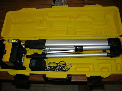 Rotary Laser Level W Tripod Power Cord Fitted Case